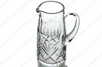 Pitcher in crystal by Saint-Louis pattern Chantilly with an important cut pattern photo-2