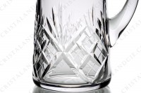 Pitcher in crystal by Saint-Louis pattern Chantilly with an important cut pattern photo-4