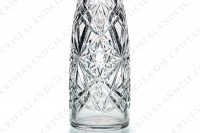 Decanter de fantaisie in crystal by Baccarat with an important cut pattern and a frame in Sterling silver hallmark Minerve on the neck photo-4