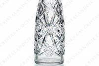 Decanter de fantaisie in crystal by Baccarat with an important cut pattern and a frame in Sterling silver hallmark Minerve on the neck photo-5