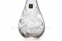 Decanter in crystal by Saint-Louis with a cut pattern of cherry plum photo-4