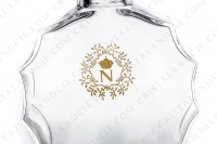 Decanter in crystal by Baccarat with an uncommon shape and the Napoleon s crest engraved and gold enhanced photo-5