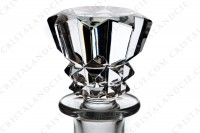 Decanter in crystal by Baccarat pattern Piccadilly with an important cut pattern photo-3