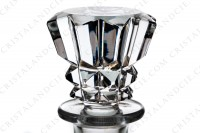 Decanter in crystal by Baccarat pattern Piccadilly with an important cut pattern photo-4