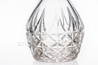 Decanter in crystal by Saint-Louis pattern Tarn with an important cut pattern photo-4