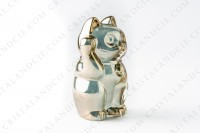 Cat Maneki Neko gold by Baccarat photo-2