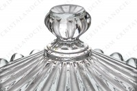 Jam jar in molded crystal by Baccarat decorated with frosted bevels photo-4