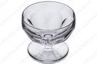 Champagne saucer in crystal by Saint-Louis pattern Bearn decorated with flat cuts photo-2