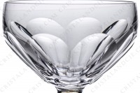 Champagne saucer in crystal by Saint-Louis pattern Bearn decorated with flat cuts photo-3
