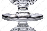 Champagne saucer in crystal by Saint-Louis pattern Bearn decorated with flat cuts photo-4