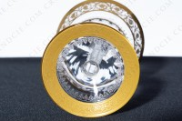 Champagne saucer in crystal by Saint-Louis pattern Thistle with an important cut and engraved pattern with gold inlays photo-6