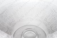 Bowl in crystal by Baccarat pattern Michel Angelo with an important engraved pattern photo-2