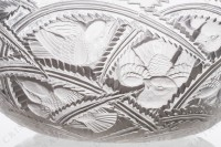 Bowl in crystal by Lalique pattern Pinsons with an important pattern of birds in leaf photo-4