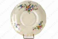 Breakfast cup in china by the Ancienne Fabrique Royale Limoges decorated with polychromes flowers photo-7