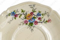 Breakfast cup in china by the Ancienne Fabrique Royale Limoges decorated with polychromes flowers photo-8
