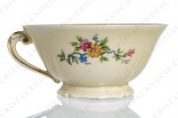 Breakfast cup in china by the Ancienne Fabrique Royale Limoges decorated with polychromes flowers photo-6