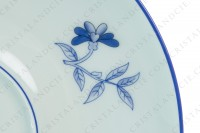 Breakfast cup in Limoges china by Haviland et Parlon pattern Shangaï bleu orient, decorated with flowers in shades of blue on a Celadon paste photo-8