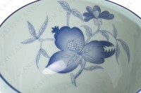 Breakfast cup in Limoges china by Haviland et Parlon pattern Shangaï bleu orient, decorated with flowers in shades of blue on a Celadon paste photo-6