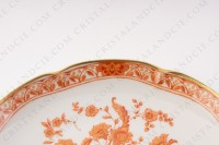 Breakfast cup in Limoges china by Haviland pattern Tehran decorated with a flowered red bush photo-9