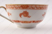 Breakfast cup in Limoges china by Haviland pattern Tehran decorated with a flowered red bush photo-5