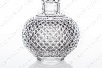 Perfume bottle in molded crystal by Baccarat decorated with diamond tips photo-4
