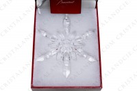 Christmas ornament in crystal by Baccarat pattern Snow flake, pattern created by the designer and sculptor Thomas Bastide in 2012 photo-4