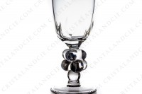 Champagne flute in crystal by Lalique pattern Clos Vougeot, the foot is decorated with a bunch of grapes photo-4