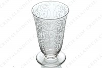 Champagne flute in crystal by Baccarat pattern Michelangelo with an important engraved pattern photo-2