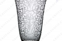 Champagne flute in crystal by Baccarat pattern Michelangelo with an important engraved pattern photo-3