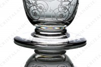 Champagne flute in crystal by Baccarat pattern Michelangelo with an important engraved pattern photo-4