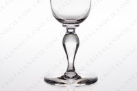Champagne flute in crystal by Baccarat pattern Romane with a baluster stem photo-3