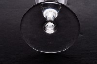 Champagne flute in crystal by Baccarat pattern Romane with a baluster stem photo-4