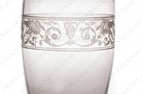 Tumbler in crystal by Baccarat pattern Cygne Empire decorated with an acid engraved frieze, with amphoras, crown of laurels and swans on flowered arabesques photo-6
