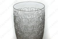 Tumbler in crystal by Baccarat pattern Gouvieux ( engraved Rohan) with an important engraved pattern photo-2