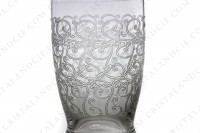 Tumbler in crystal by Baccarat pattern Gouvieux ( engraved Rohan) with an important engraved pattern photo-3