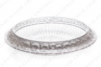 Bowl in crystal by Lalique pattern Marguerites decorated with a frieze of frosted flowers photo-2
