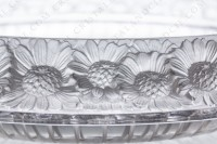Bowl in crystal by Lalique pattern Marguerites decorated with a frieze of frosted flowers photo-3