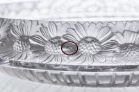 Bowl in crystal by Lalique pattern Marguerites decorated with a frieze of frosted flowers photo-4