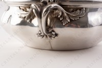 Covered vegetable in plated silver by Christofle with a fine chiselled vegetable pattern photo-10