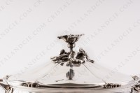 Covered vegetable in plated silver by Christofle with a fine chiselled vegetable pattern photo-2