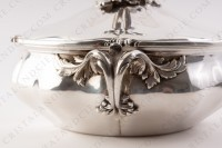 Covered vegetable in plated silver by Christofle with a fine chiselled vegetable pattern photo-7