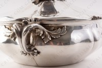 Covered vegetable in plated silver by Christofle with a fine chiselled vegetable pattern photo-8