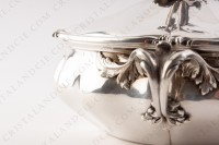 Covered vegetable in plated silver by Christofle with a fine chiselled vegetable pattern photo-9