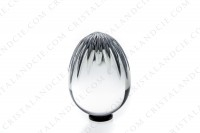 Egg in crystal by Baccarat pattern Massena with cut bevels photo-2
