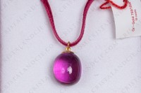 Pendant in crystal by Baccarat pattern Tentation purple photo-2