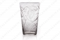 Small tumbler in crystal with an important hand-engraved pattern of seaweeds and fishes photo-2
