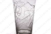 Small tumbler in crystal with an important hand-engraved pattern of seaweeds and fishes photo-7