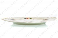 Cake dish in china of Limoges by Bernardaud shape Régence decorated with polychromes flowers photo-5