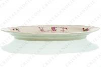Ovale platter in china of Limoges by Bernardaud pattern Chantilly with a Japanese polychrome pattern of flowers and birds of paradise photo-5