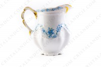Creamer in Limoges china by the Ancienne Manufacture Royale ( Bernardaud) decorated with blue flowers photo-3